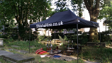 3 meter x 6 meter tent to hire with the Shisha pipes